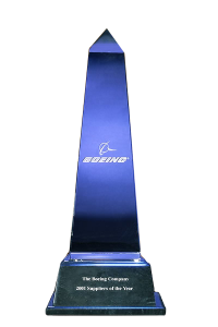 2001 Boeing Supplier of the Year Award